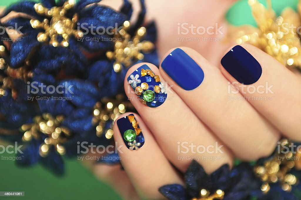 Blue lacquer. stock photo