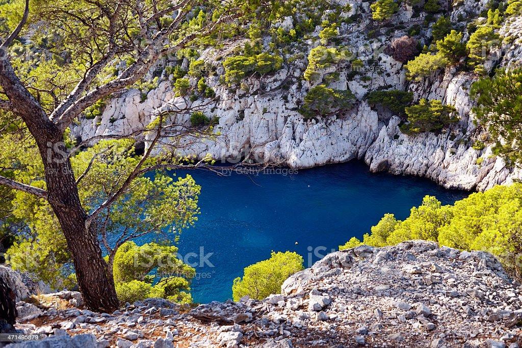 Blue Lagoon at French Riviera stock photo