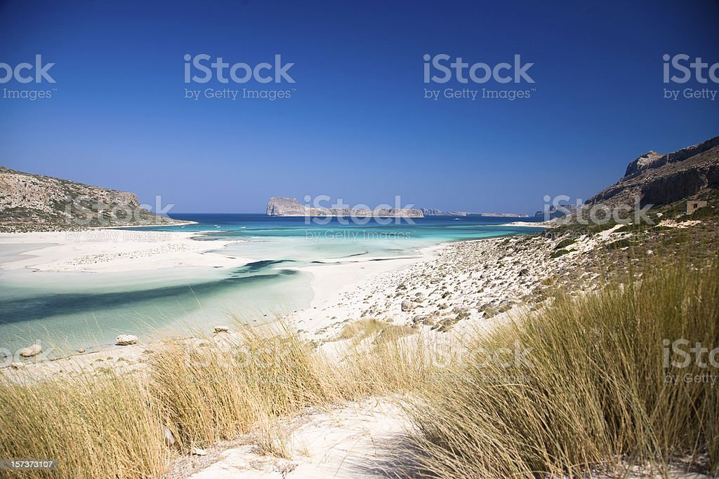 Blue lagoon beach stock photo