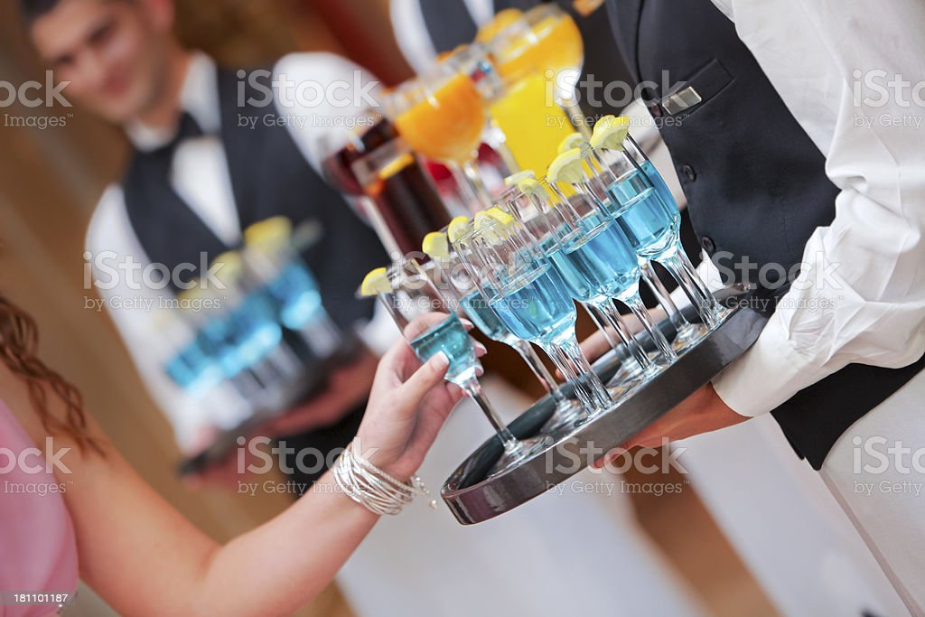Blue lagoon cocktails royalty-free stock photo