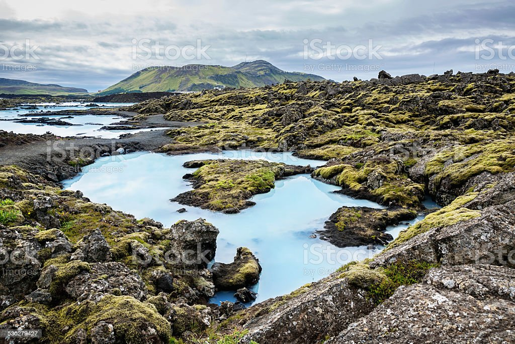 Blue Lagoon Iceland stock photo