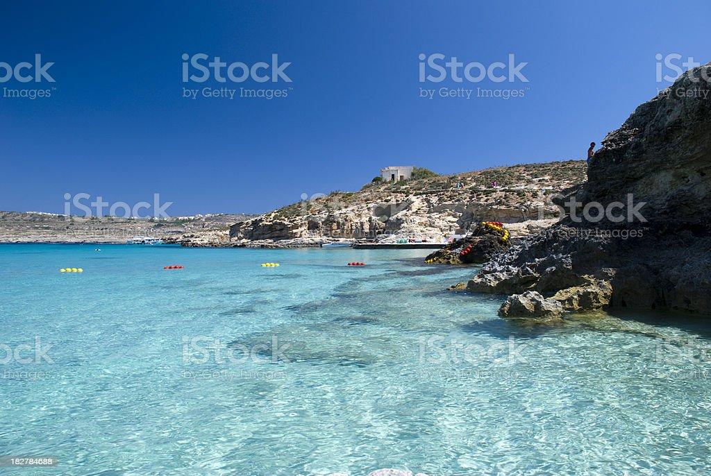 Blue Lagoon, Malta stock photo