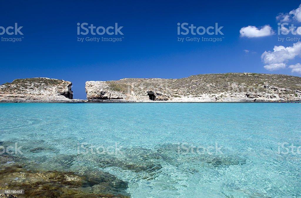 Blue Lagoon, Malta royalty-free stock photo