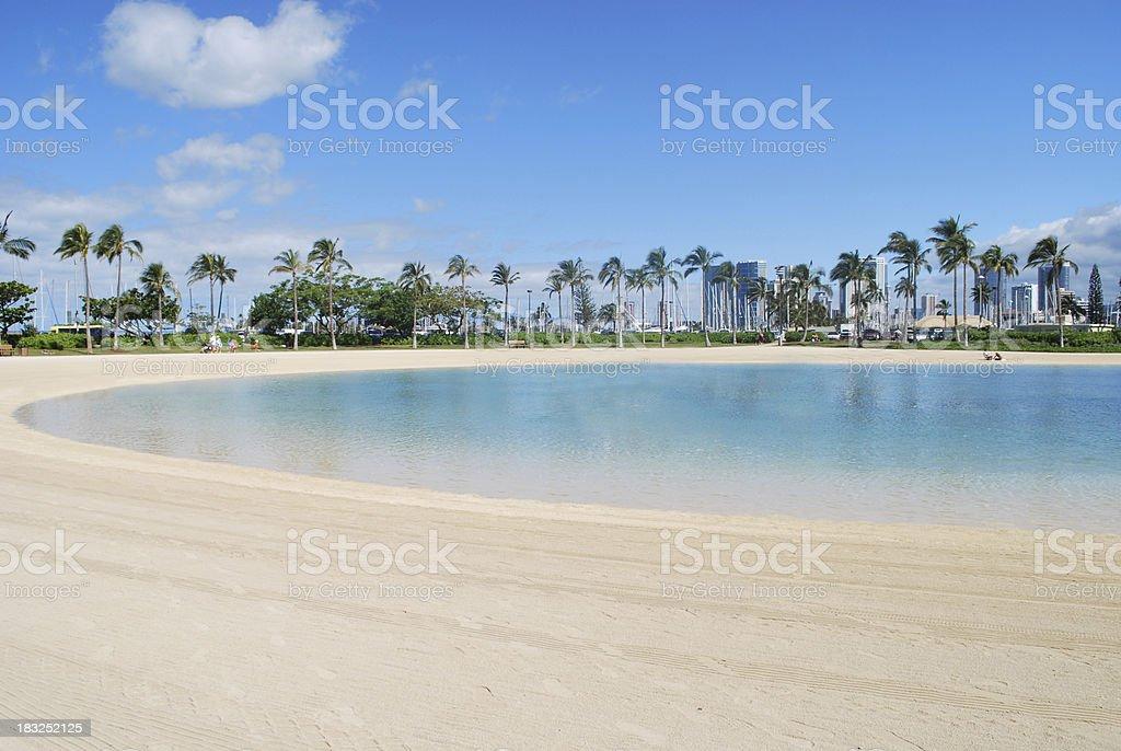 Blue Lagoon near Waikiki Beach royalty-free stock photo
