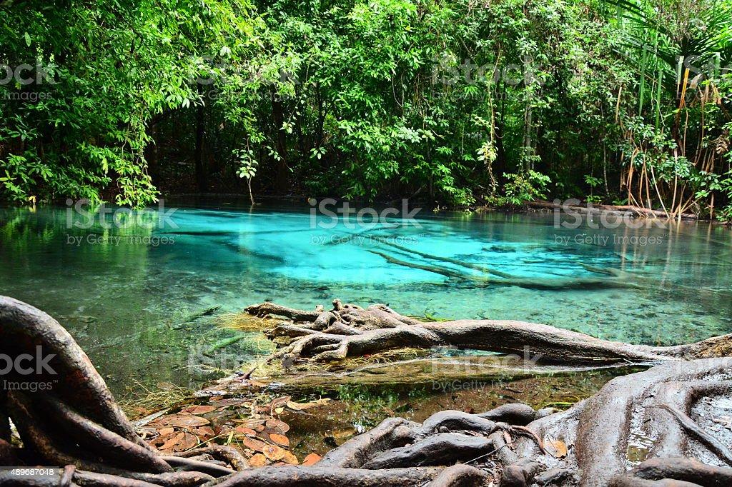 Blue lagoon stock photo