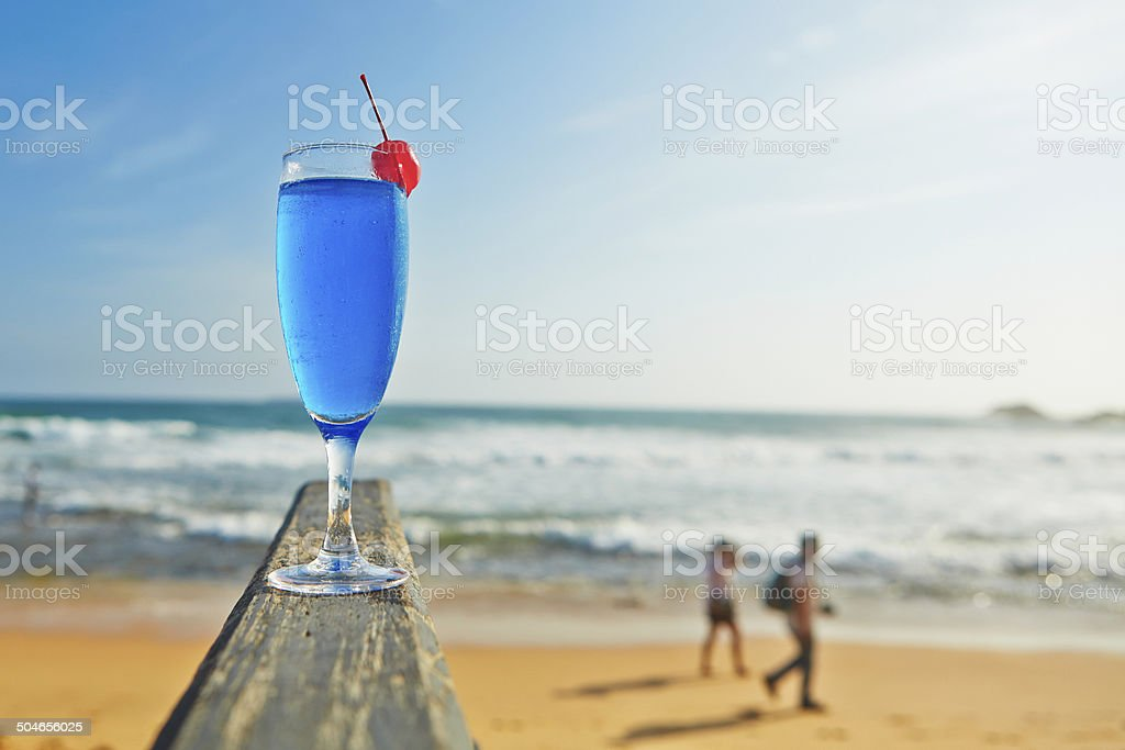 Blue lagoon stock photo