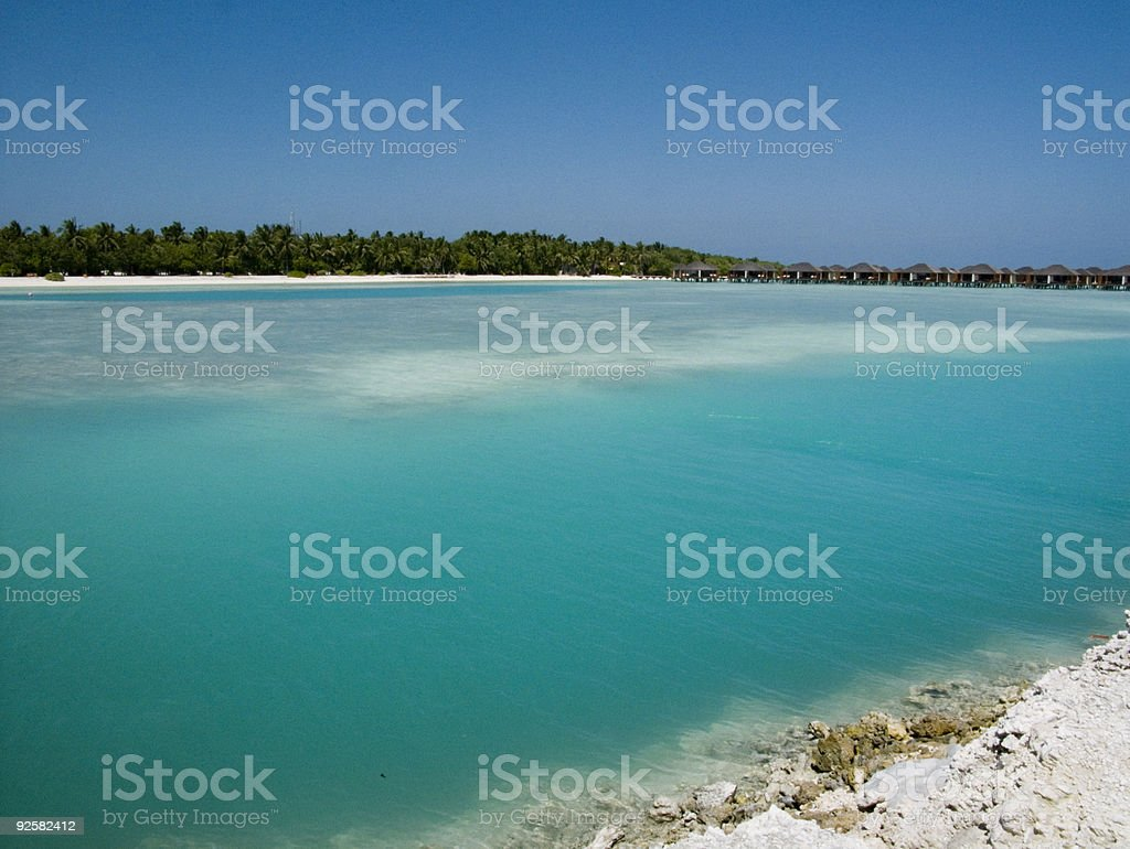 Blue lagoon. royalty-free stock photo