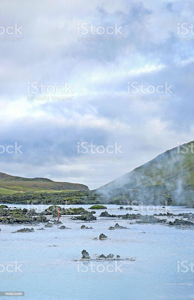 blue lagoon pools near reykjavik iceland royalty-free stock photo