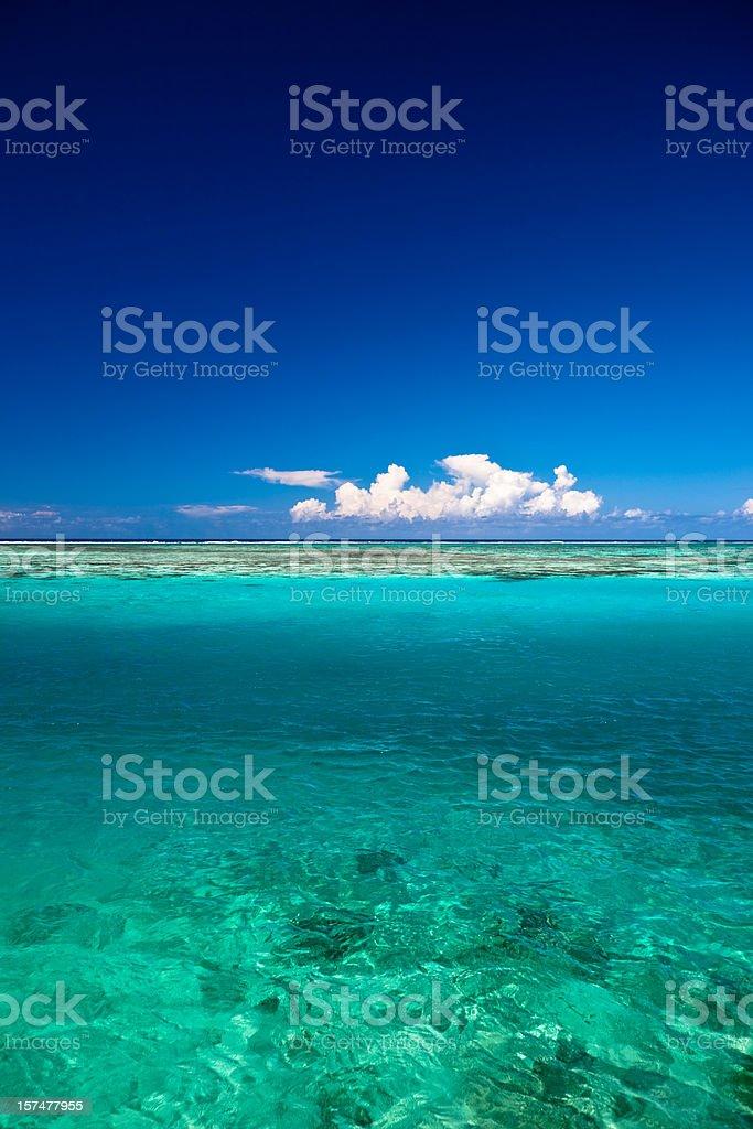 Blue Lagoon Water royalty-free stock photo