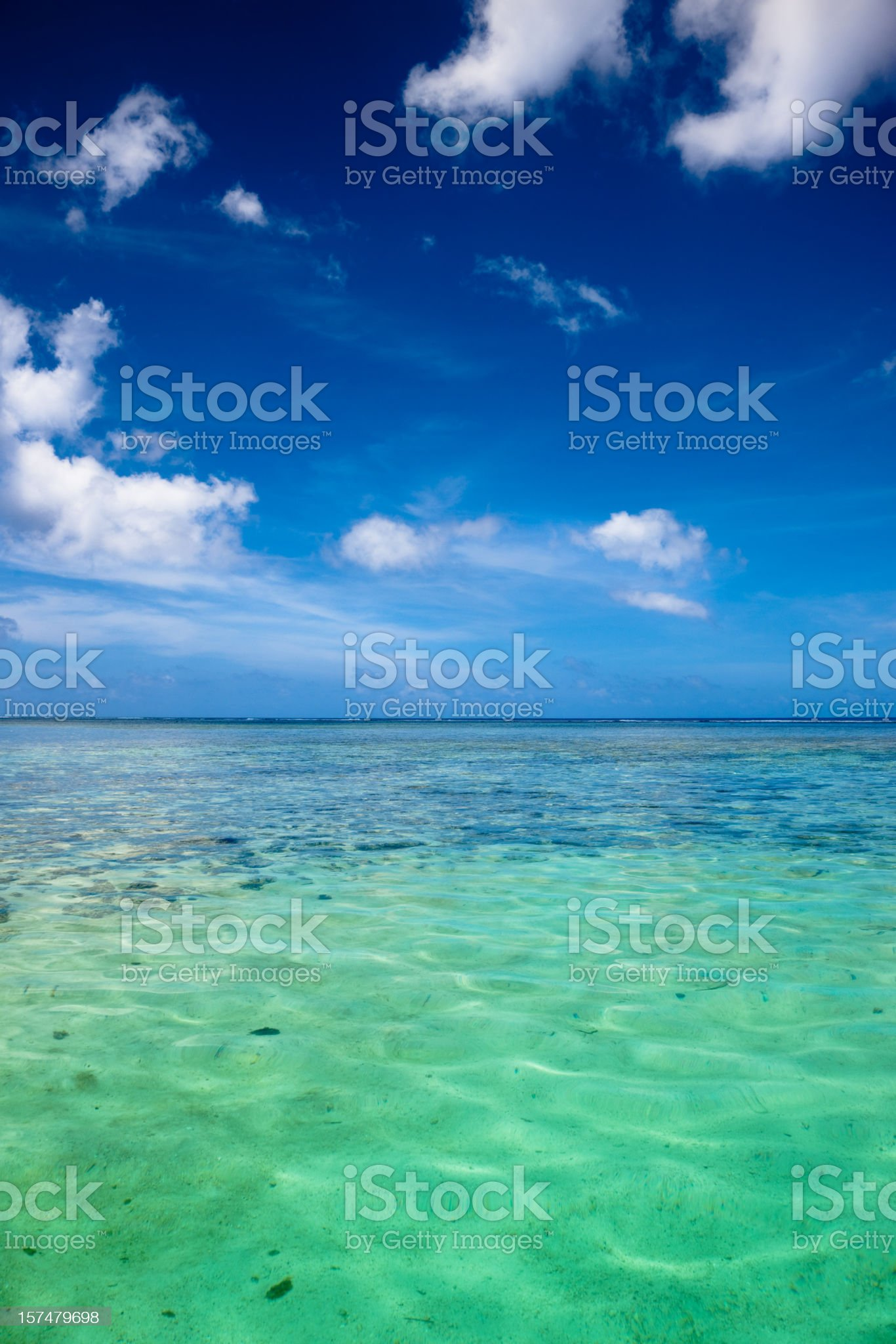 Blue Lagoon with Clear Water Surface royalty-free stock photo