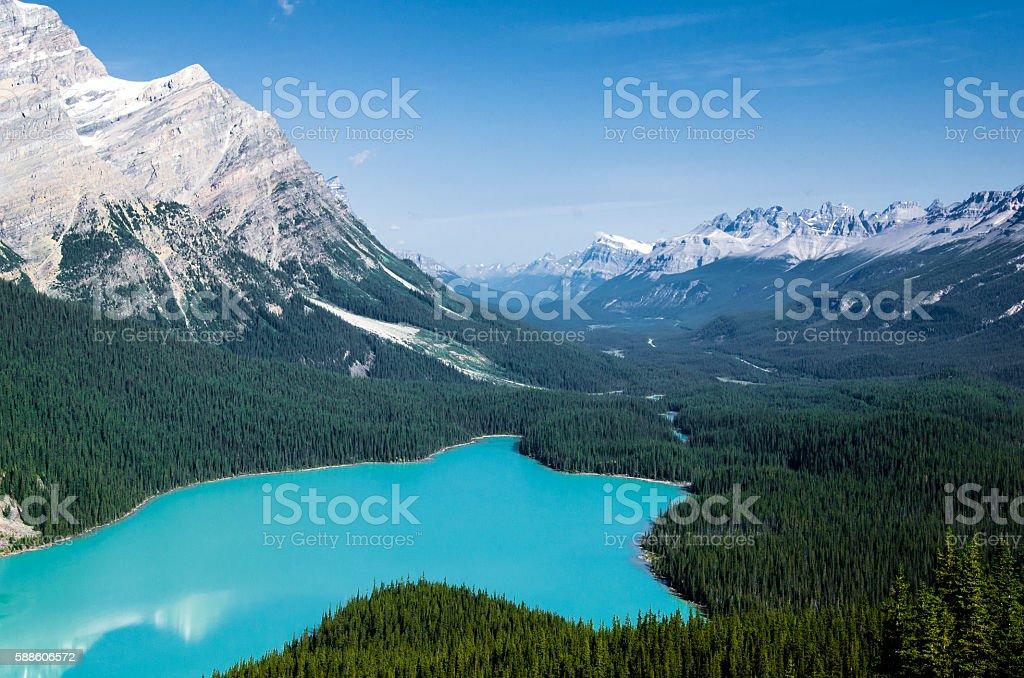 Blue Lake in Canada stock photo