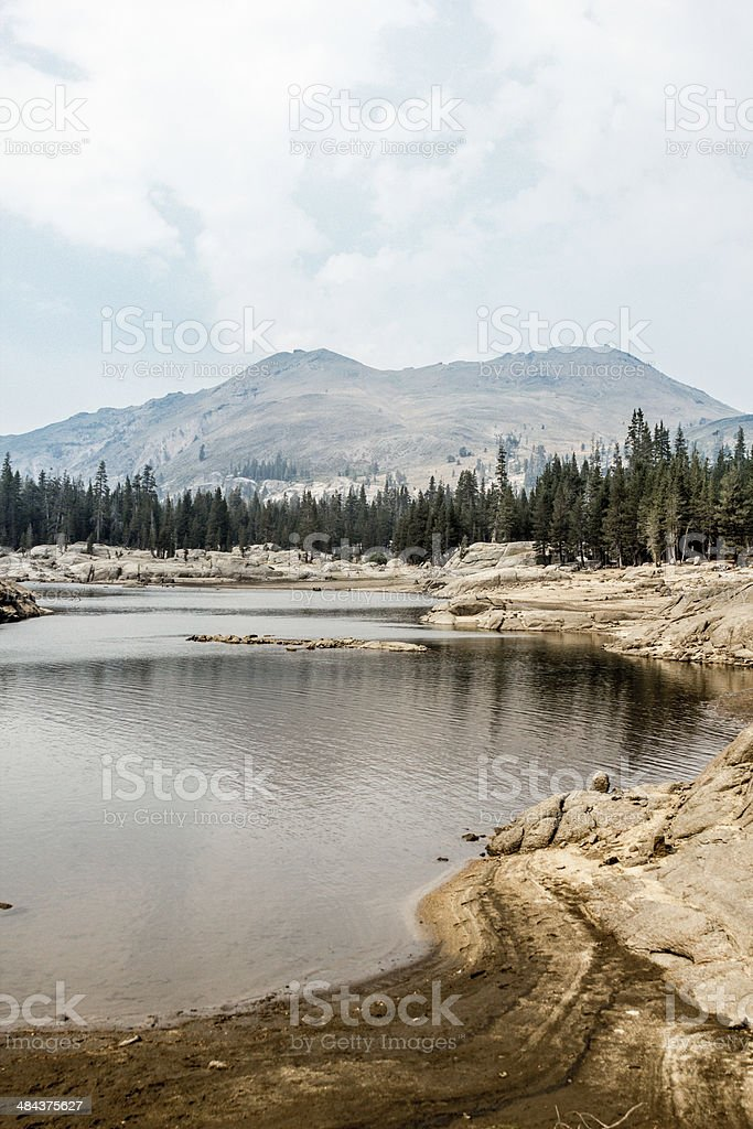 Blue Lake in Hope Valley CA stock photo