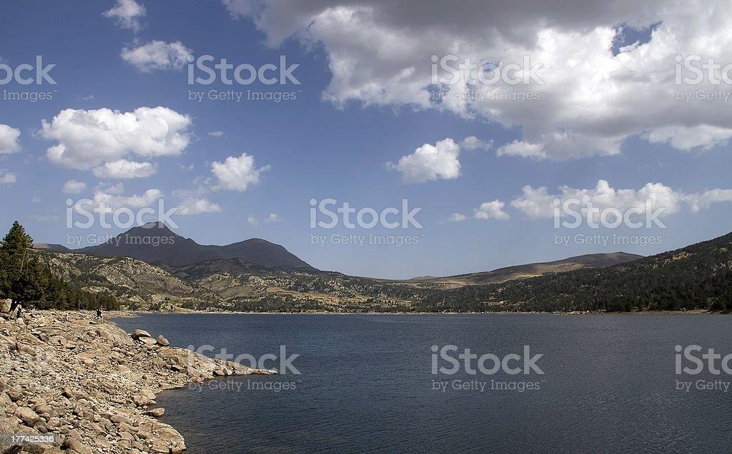 Blue lake royalty-free stock photo
