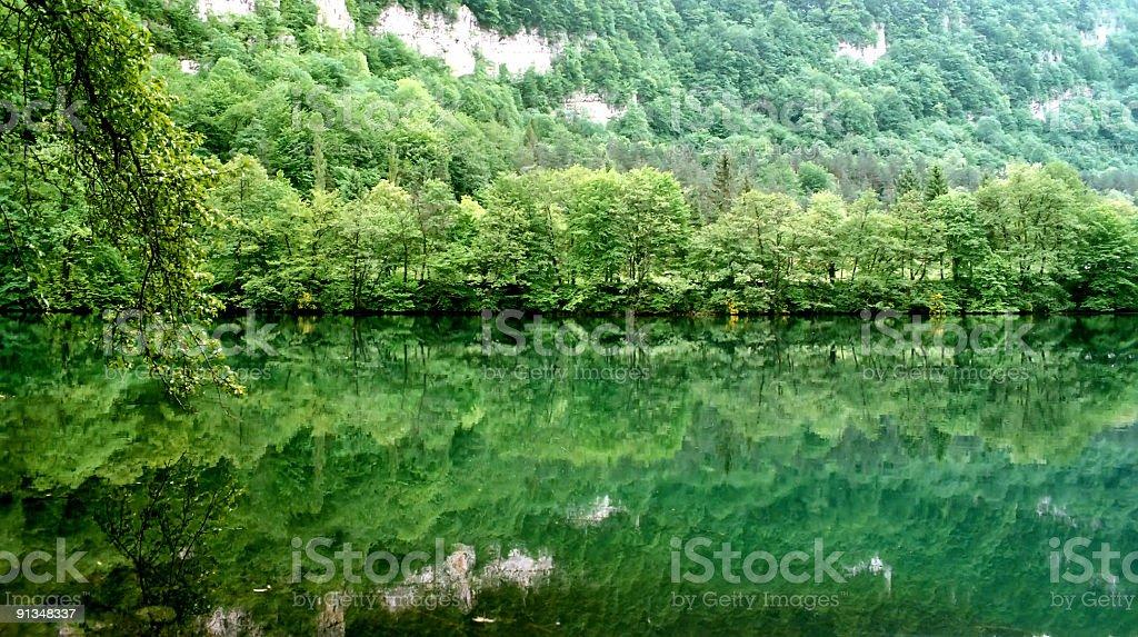 Blue lake. royalty-free stock photo