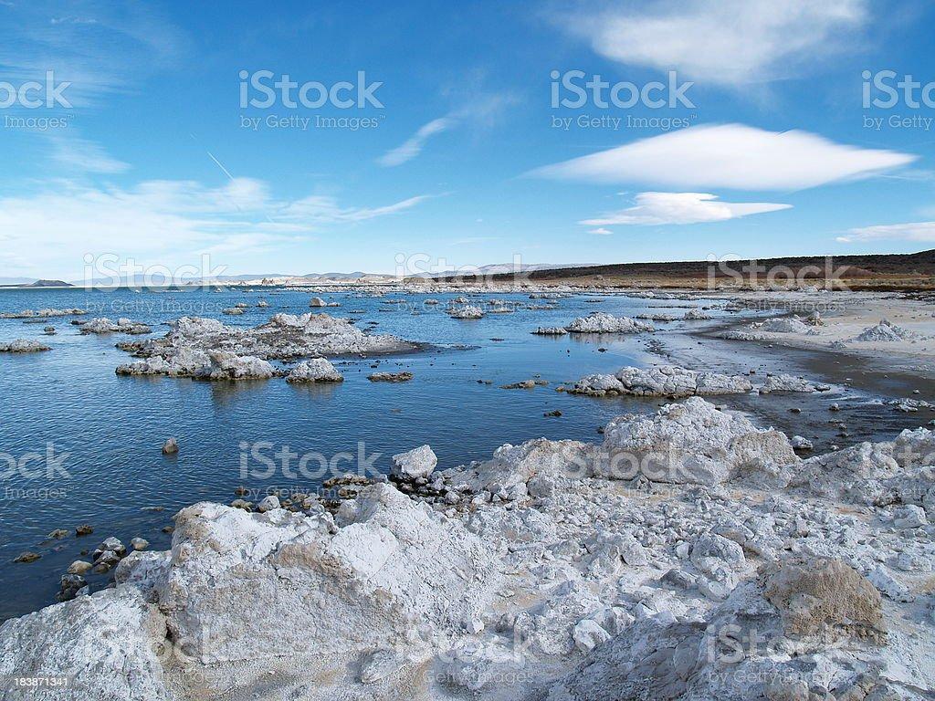 Blue Lake View stock photo