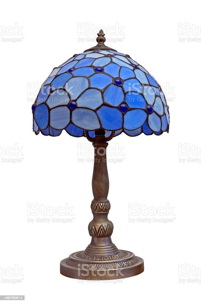 Blue lamp stock photo