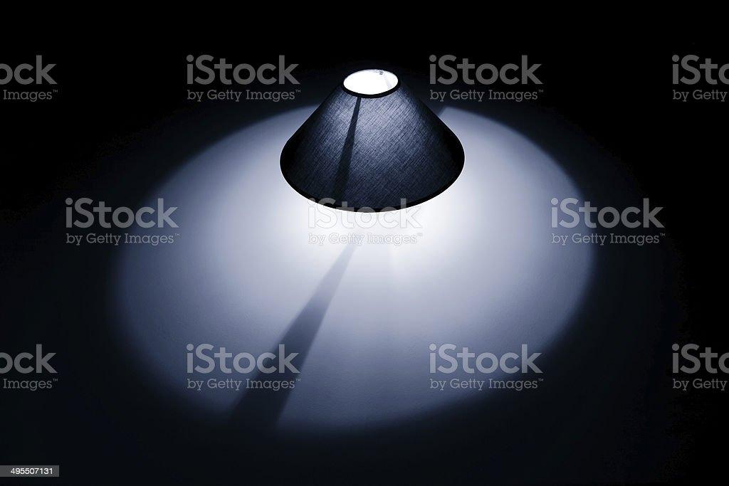Lampe bleu photo libre de droits