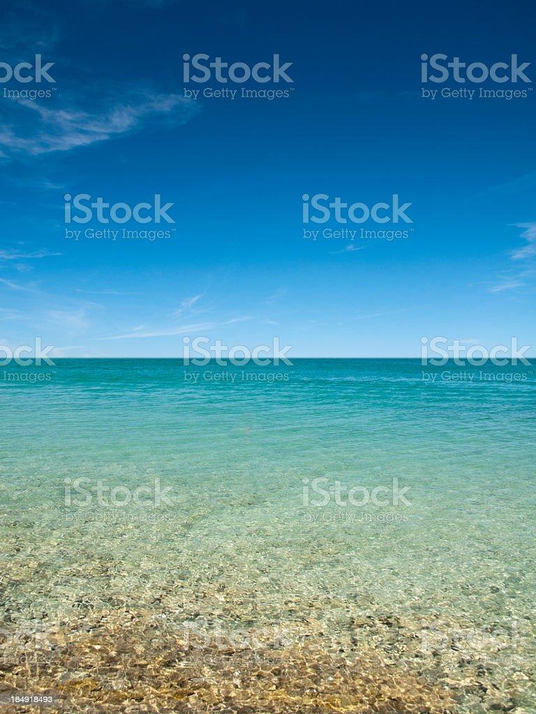 Blue landscape royalty-free stock photo