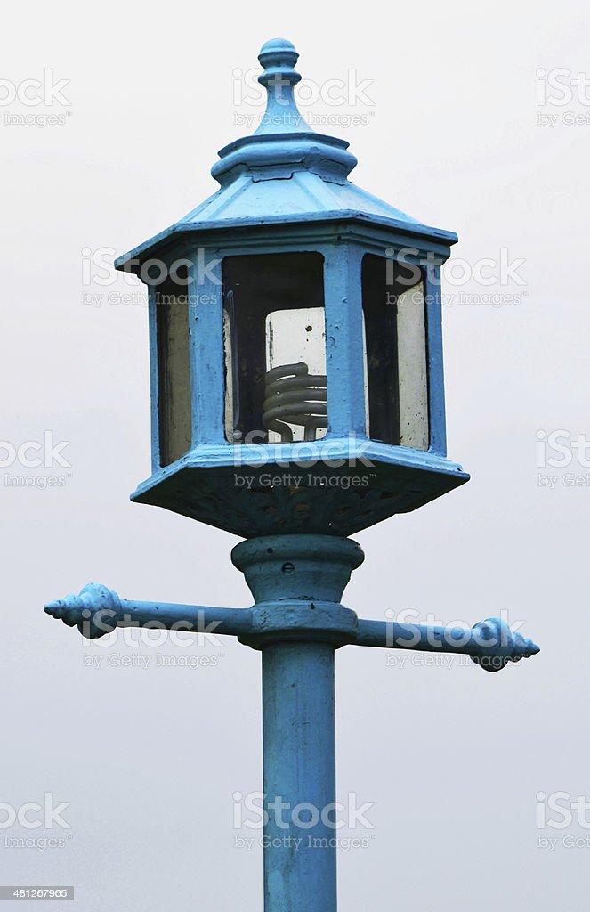 Blue lantern stock photo