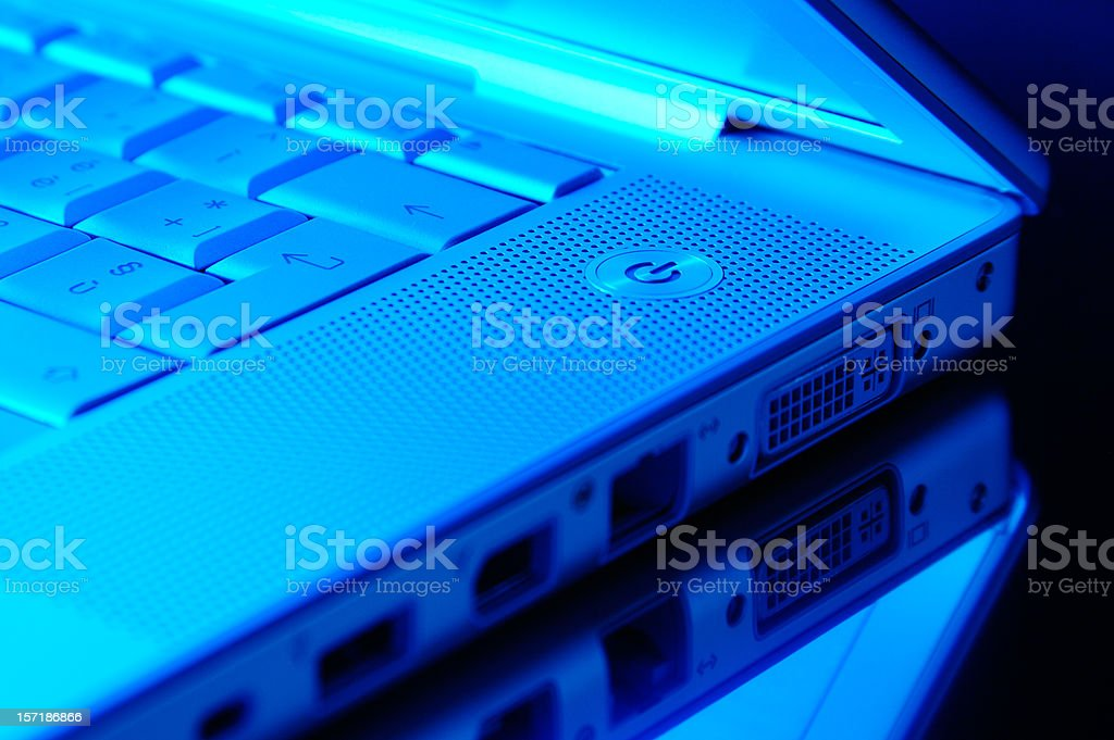 Blue Laptop royalty-free stock photo