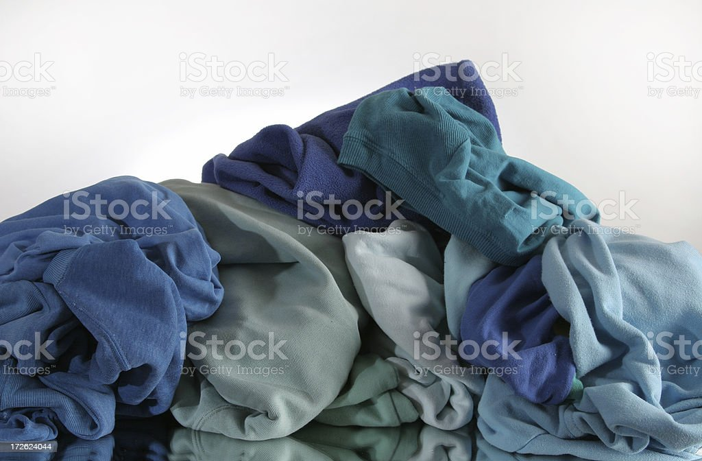 blue laundry royalty-free stock photo