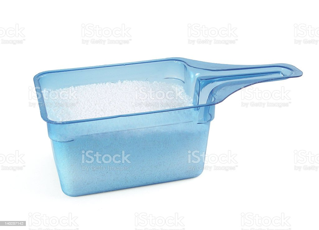 Blue Laundry Scoop Isolated w/path stock photo