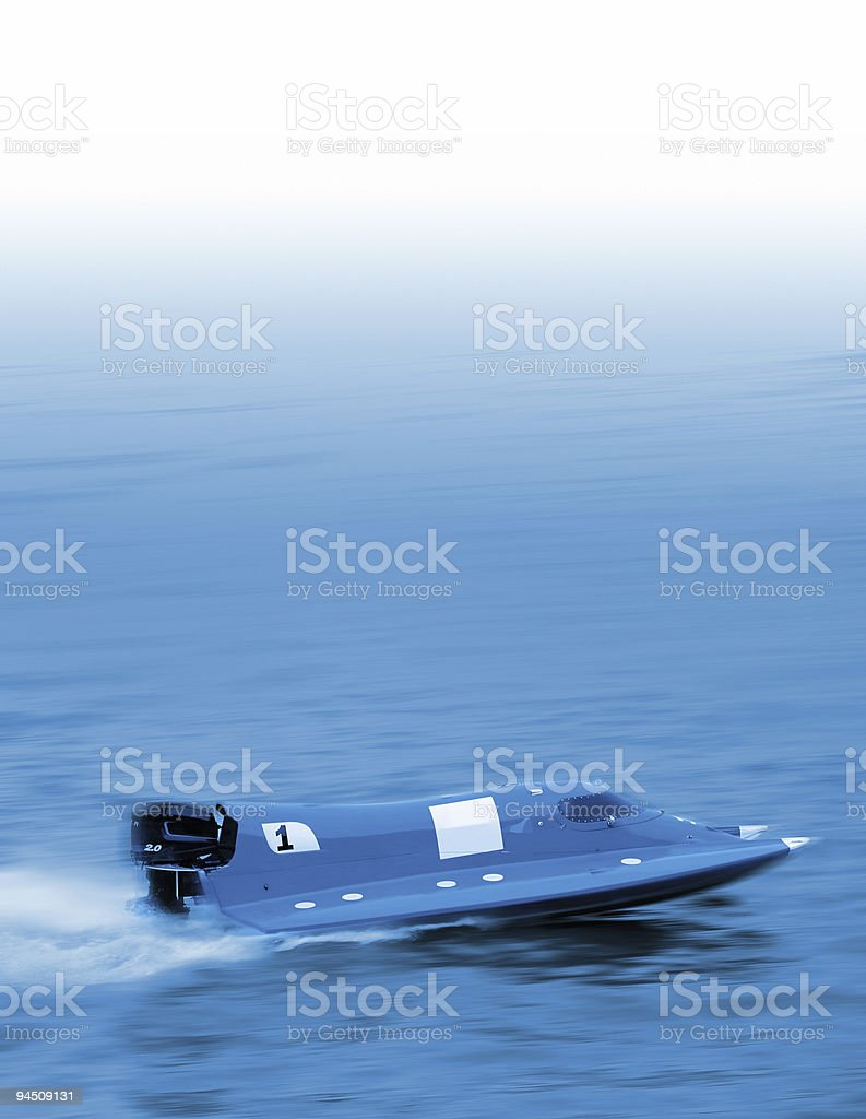 Blue leader royalty-free stock photo