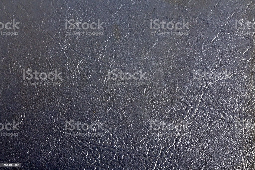 Blue leather notebook stock photo
