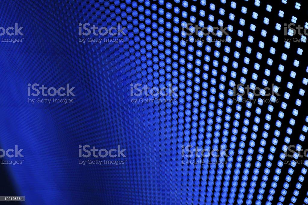 Blue LED lights. royalty-free stock photo