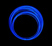 Blue LED Long Exposure, LED Lighting Texture on Black Background