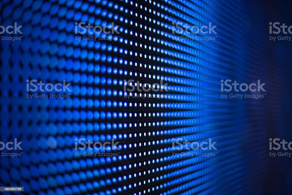 Blue led screen mesh - radial blur stock photo