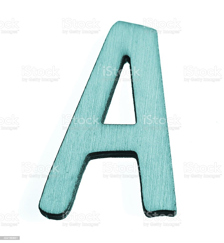 Blue Letter A royalty-free stock photo