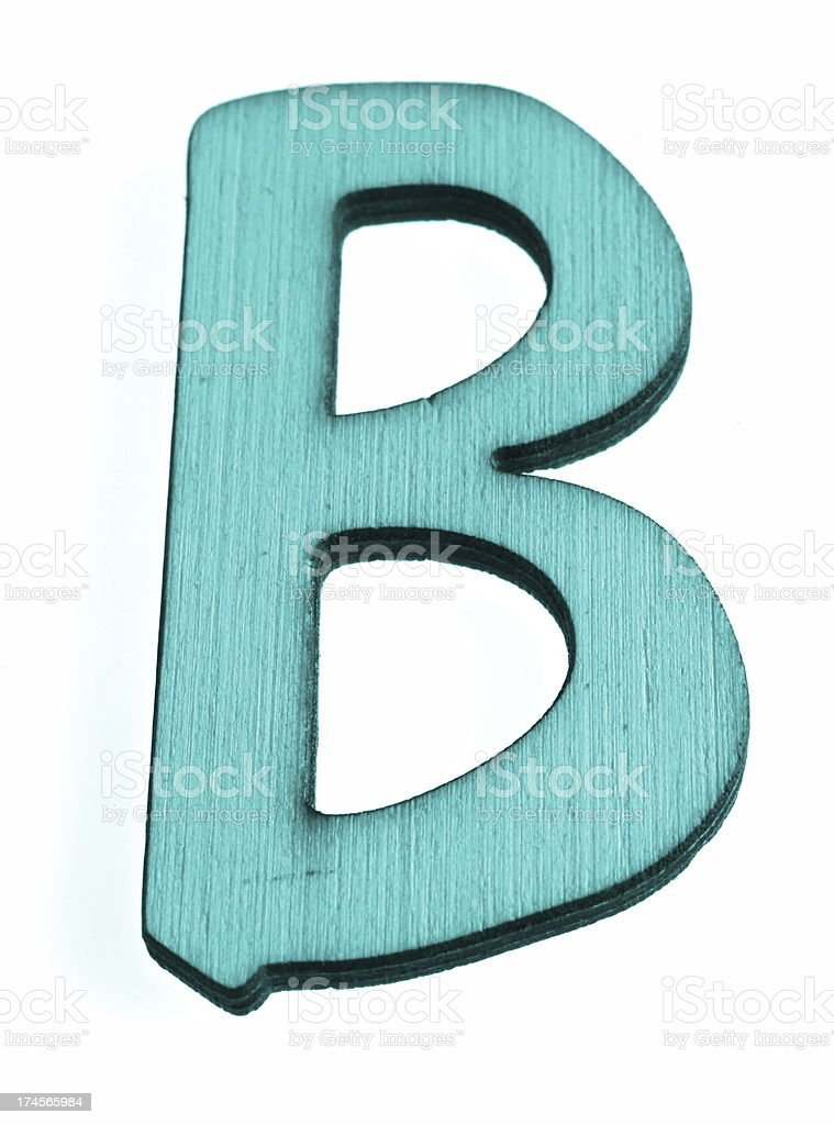 Blue Letter B royalty-free stock photo