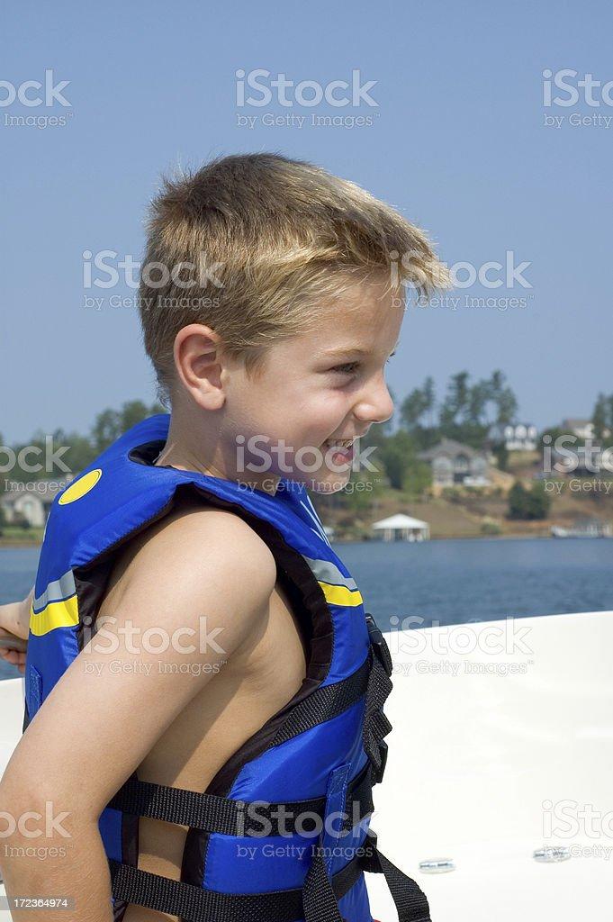 Blue Life Vest royalty-free stock photo