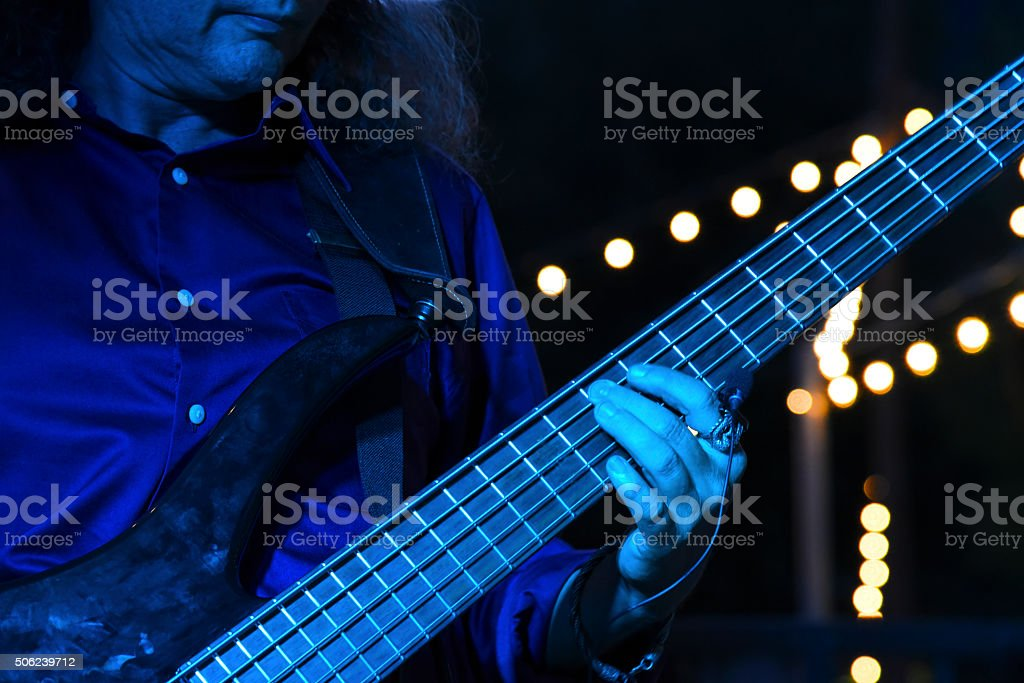 Blue light bass stock photo