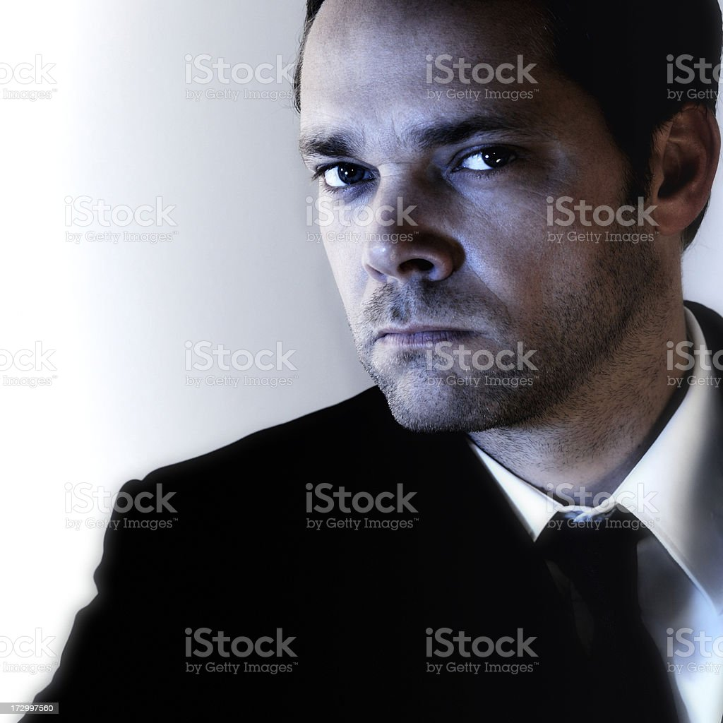 blue light businessman royalty-free stock photo