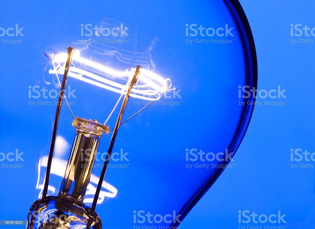 Blue Light Macro stock photo