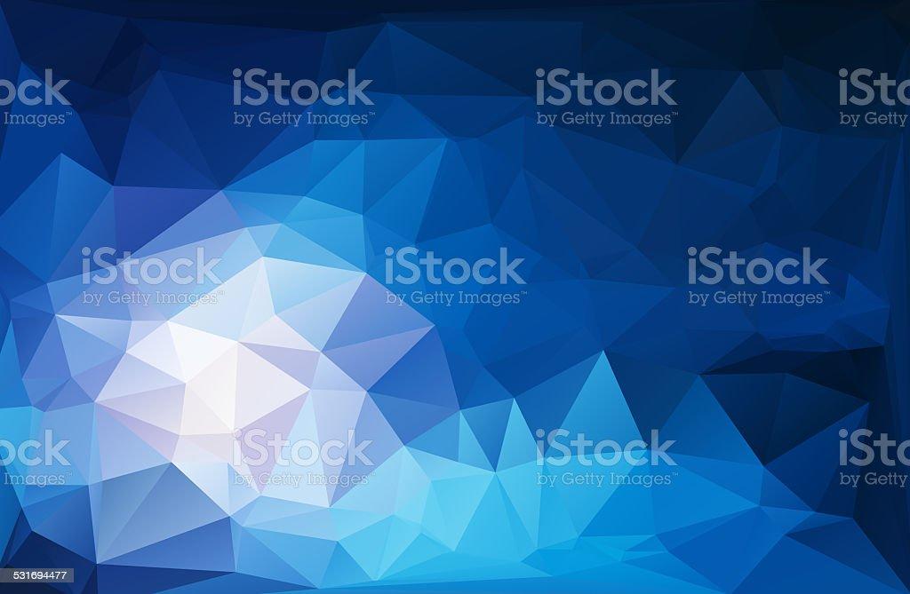blue light polygonal mosaic background,Business design templates stock photo