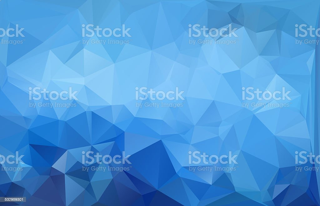 blue light polygonal mosaic background,Business design templates stock photo
