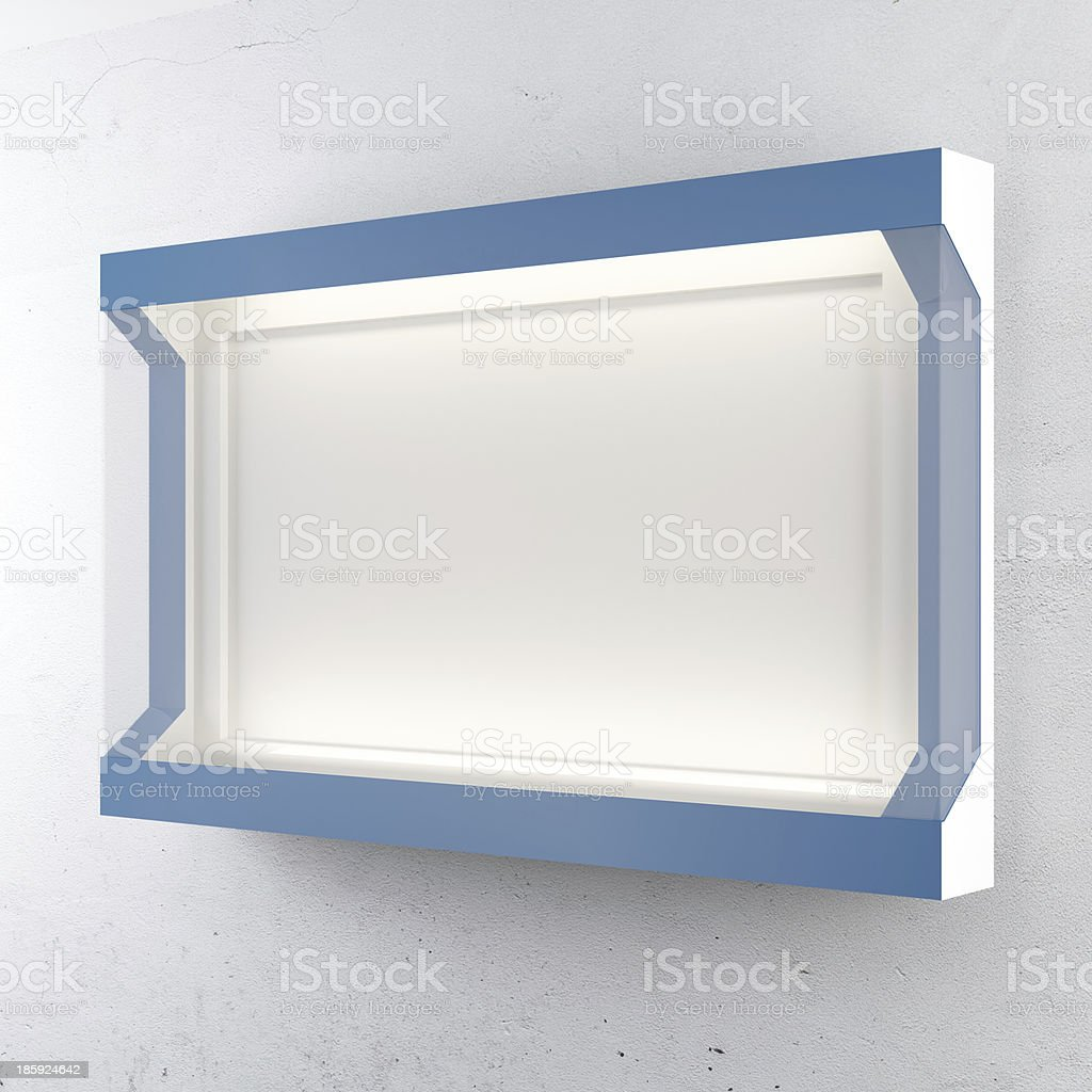 Blue lightbox royalty-free stock photo
