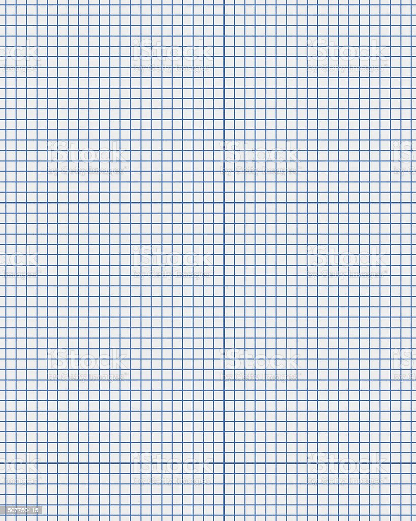 blue line white graph paper stock photo