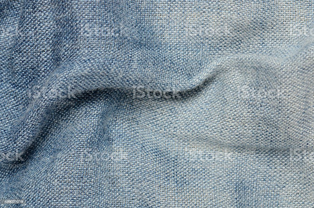 blue linen texture background stock photo