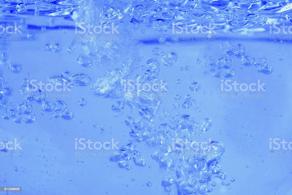 Blue Liquid Abstract stock photo