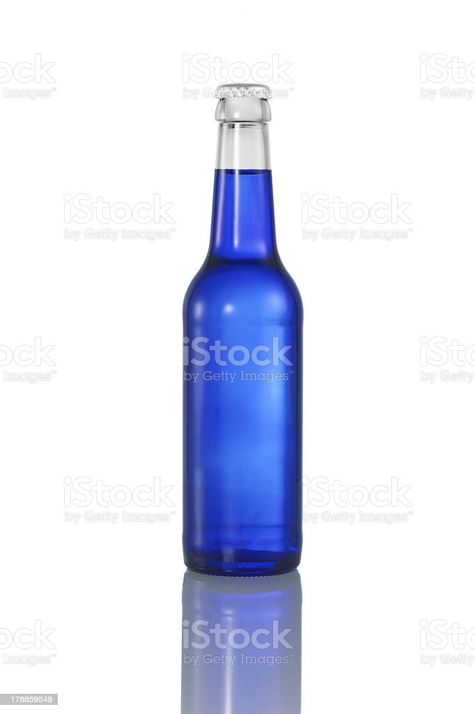 blue liquid in bottle royalty-free stock photo