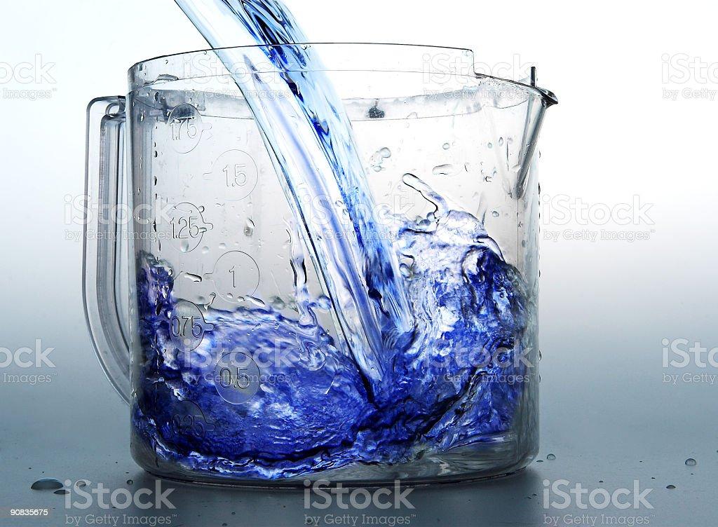 블루 액체형 royalty-free 스톡 사진
