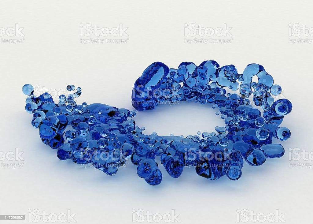 Blue Liquid Spiral royalty-free stock photo