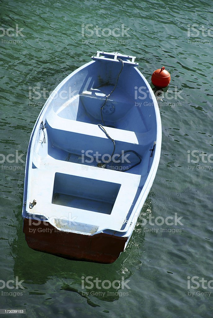Blue little boat royalty-free stock photo