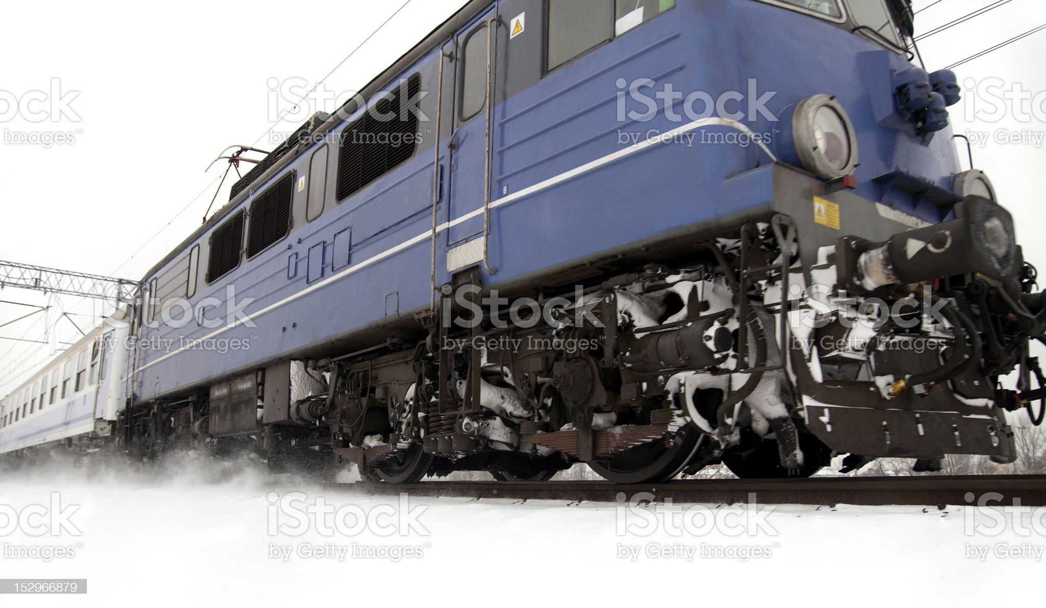 Blue locomotive royalty-free stock photo