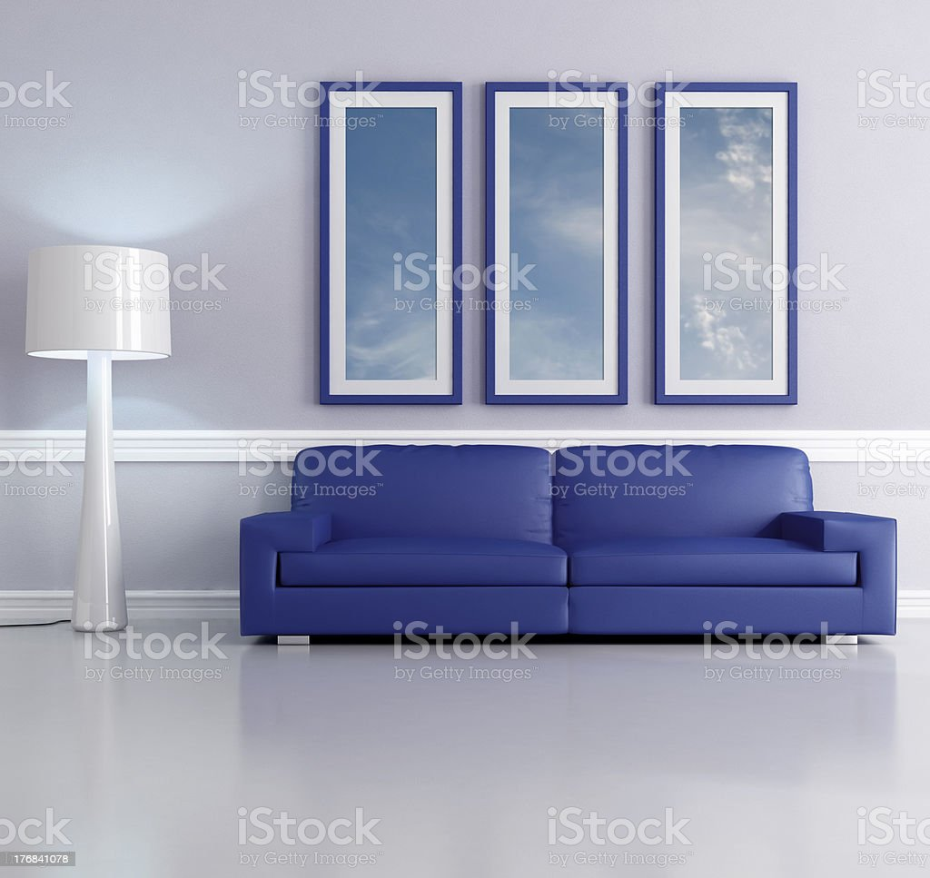 blue lounge royalty-free stock photo