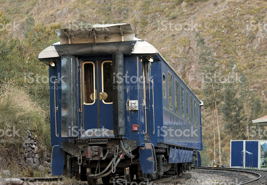 blue luxury wagon stock photo